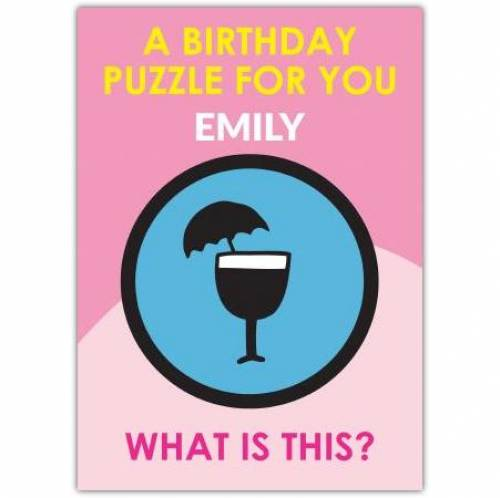 Mary Poppins Puzzle Birthday Card