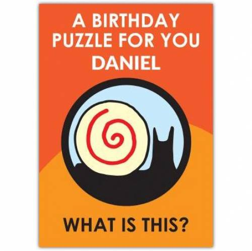 Snail Batman Puzzle Birthday Card