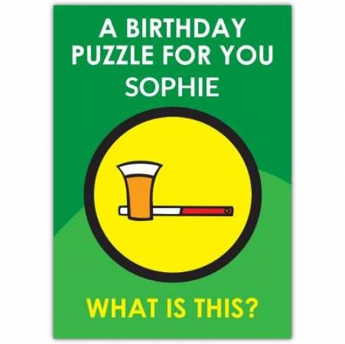 Lager Puzzle Birthday Card