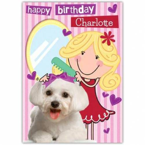 Cute Puppy Happy Birthday Card
