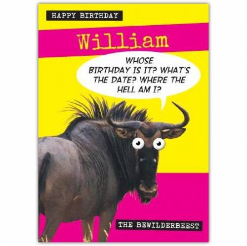 Bewilderbeast Whose Birthday Is It Birthday Card