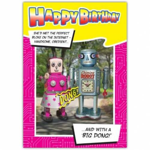 Bin Dong Robot Birthday Card