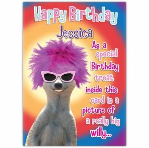 Really Big Willie Birthday Card