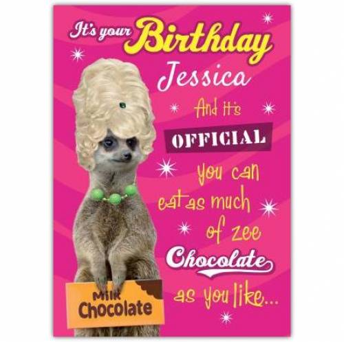 Eat As Much Chocolate Birthday Card