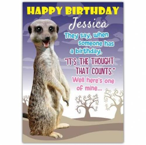 It's The Thought That Counts Birthday Card