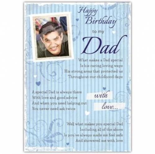 Special Dad Floral Birthday Card