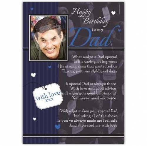 Special Caring Dad Birthday Card