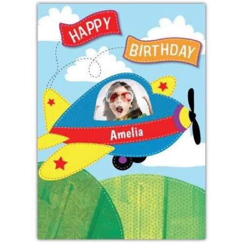 Happy Birthday Plane Birthday Card