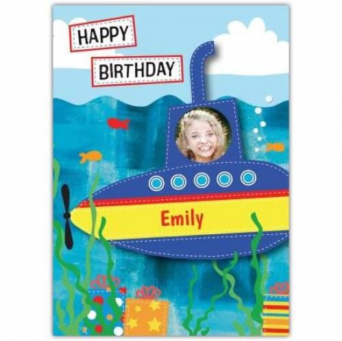 Happy Birthday Submarine Birthday Card