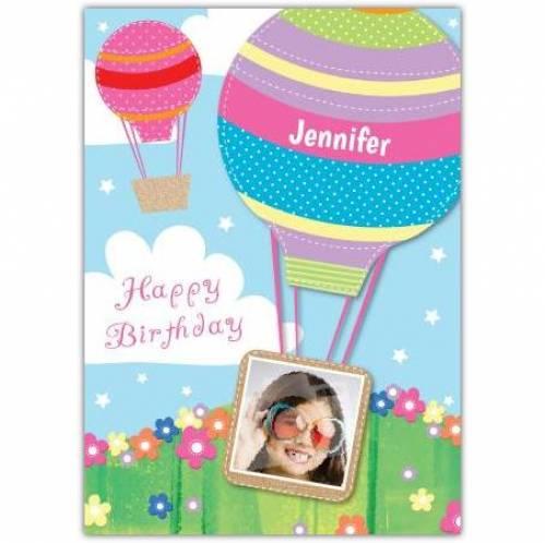 Happy Birthday Hot Air Balloon Birthday Card