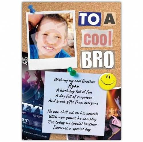 Cool Bro Photo Birthday Card