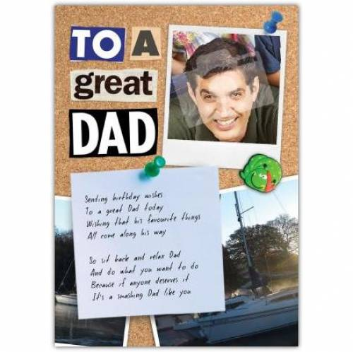 Great Dad Photo Birthday Card