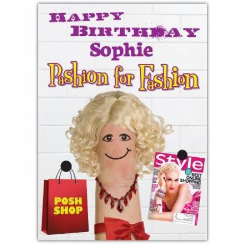 Pashion For Fashion Birthday Card