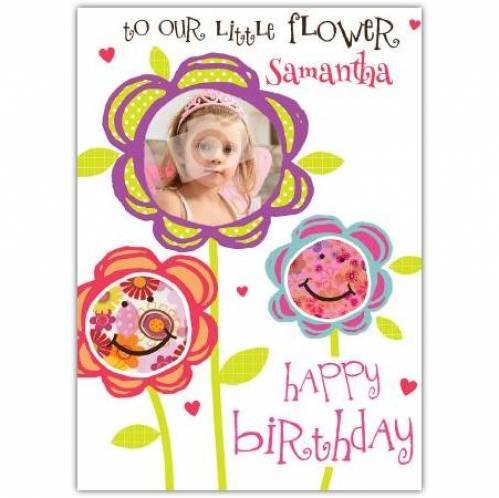 Our Little Flower Birthday Card