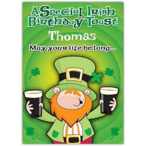 May You Life Be Long Irish Birthday Card
