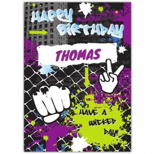 Have A Wicked Day Birthday Card