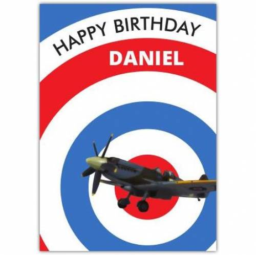 Spitfire Birthday Card