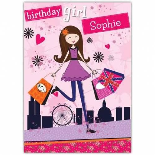 Birthday Girl Shopper Birthday Card
