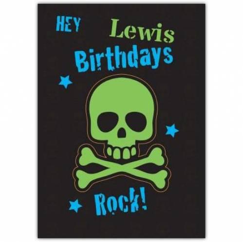 Hey Birthdays Rock Birthday Card
