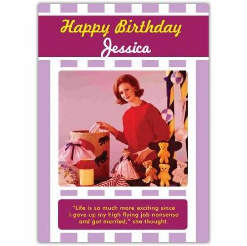 High Flying Job Nonsense Married Birthday Card