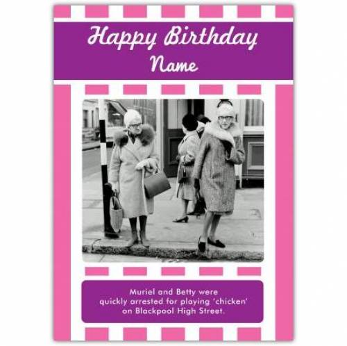 Playing Chicken Birthday Card