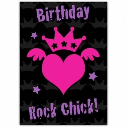 Rock Chick Birthday Card