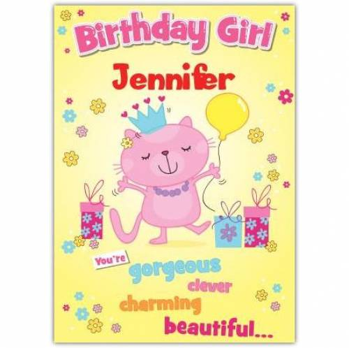 Gorgeous Clever Charming Beautiful Birthday Card