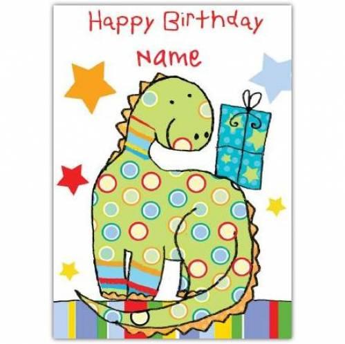 Dinosaur Happy Birthday Card