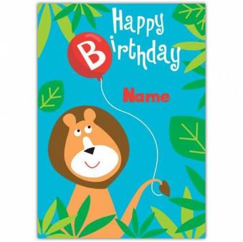 Lion Happy Birthday Card