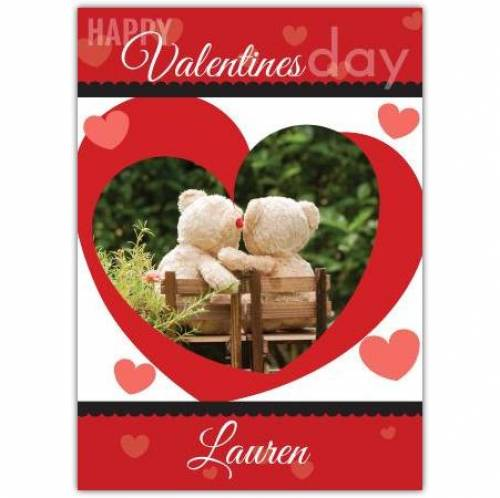 Valentines Day Two Bears Card