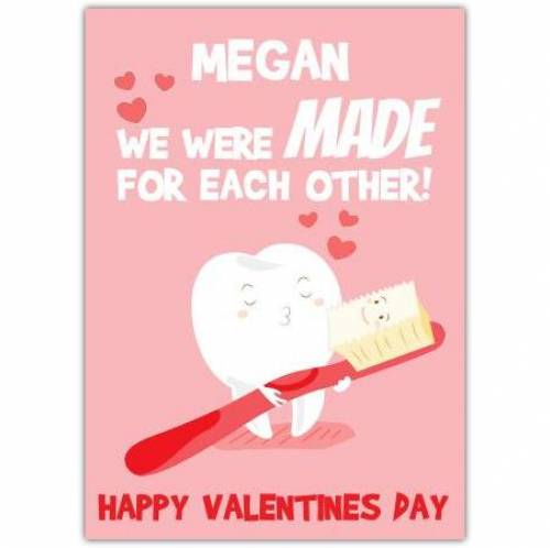 Valentines Day Tooth Card