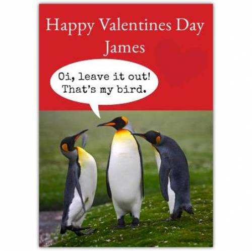Valentines Day Penguins Card