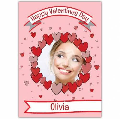 Valentines Day Circle Of Hearts Card