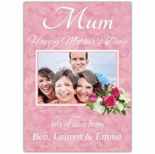 Happy Mothers Day Flowers Rectangle Photo Card