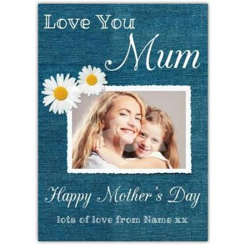 Happy Mothers Day Love You Mum Blue Card