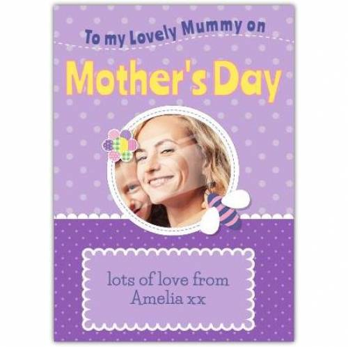 To My Lovely Mummy Card