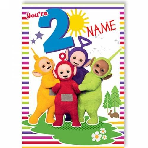 You're 8 Teletubbies Birthday Card