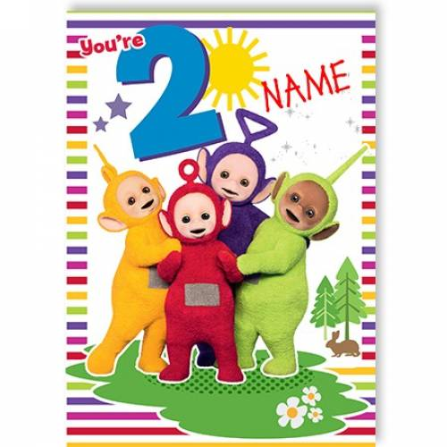 You're 8 Teletubbies Birthday Card