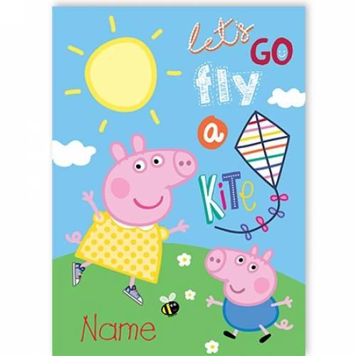Let's Go Fly A Kite Peppa Pig Card