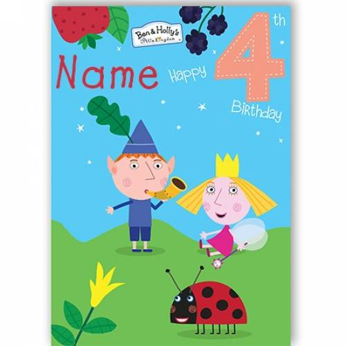 Ben & Holly Happy 4th Birthday Card