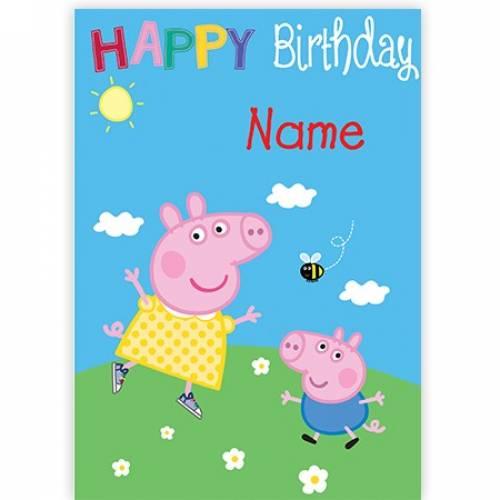 Peppa Pig Happy Birthday Card