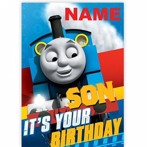 Son - Thomas The Tank Engine It's Your Birthday Card