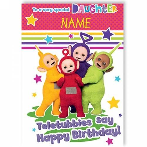 Teletubbies Say Happy Birthday Card