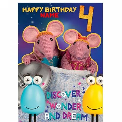 Clangers 4th Birthday Card
