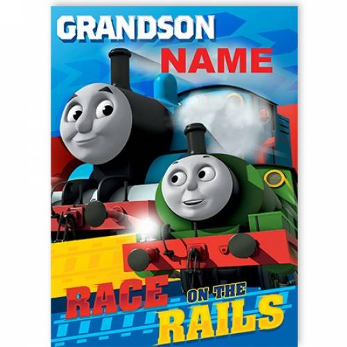 Grandson Thomas The Tank Engine Race The Rails Card
