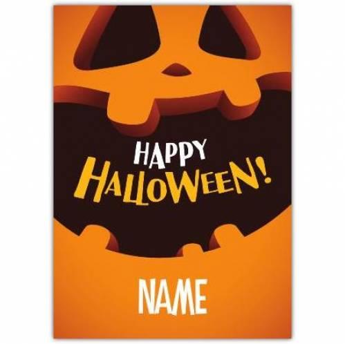 Happy Halloween Pumpkin Mouth Card