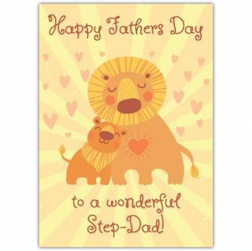 Happy Fathers Day To A Wonderful Step Dad Card
