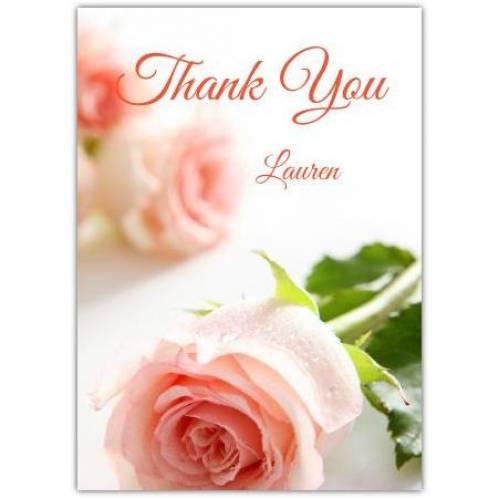 Thank You Pink Rose Card