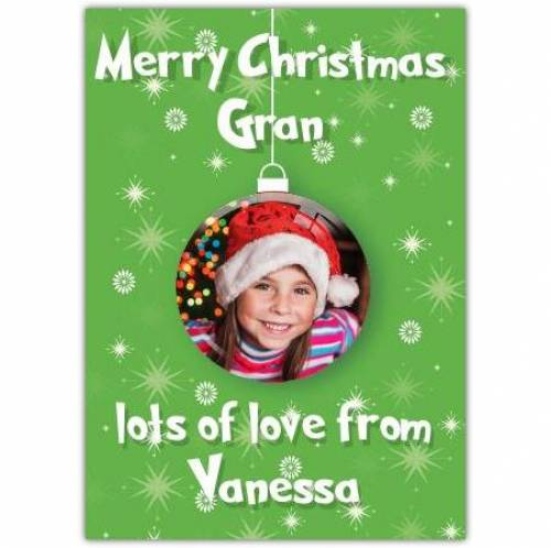 Christmas Photo In Bauble Card