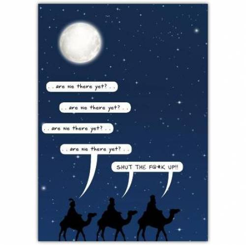 Christmas Are We There Yet Card